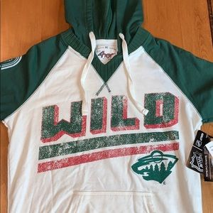 MN WILD Short sleeve hoodie